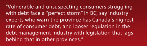 BC Debt Management Legislation